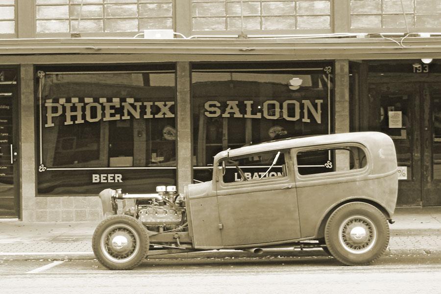 Rad rod at the Saloon.