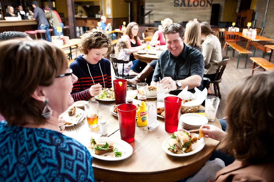 Phoenix Saloon offers a family-style feast that delivers the fun.